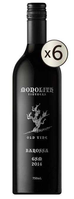 Monolith Vintners Old Vine Barossa Valley Grenache Shiraz Mataro 2014 6pack
