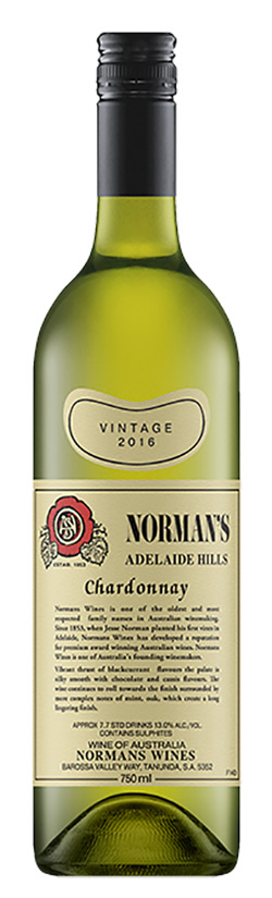 Normans Retro Series Adelaide Hills Chardonnay 2016
