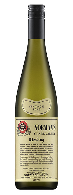 Normans Heritage Series Clare Valley Riesling 2016