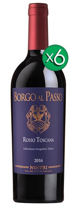 Borgo Al Passo Sangiovese Merlot IGT Toscana 2016 6pack