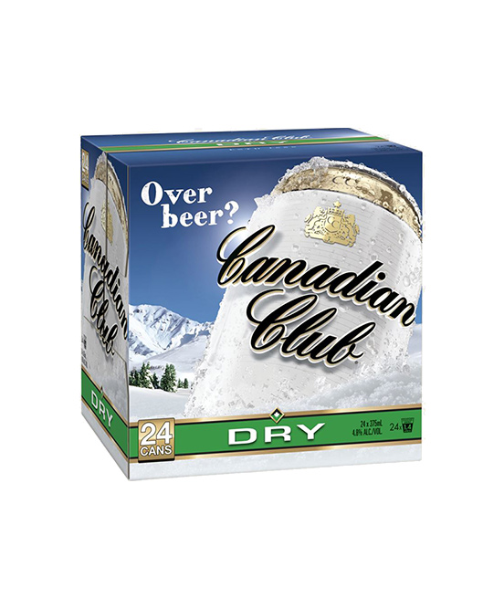 Canadian Club & Dry Cans Cube 24 Pack