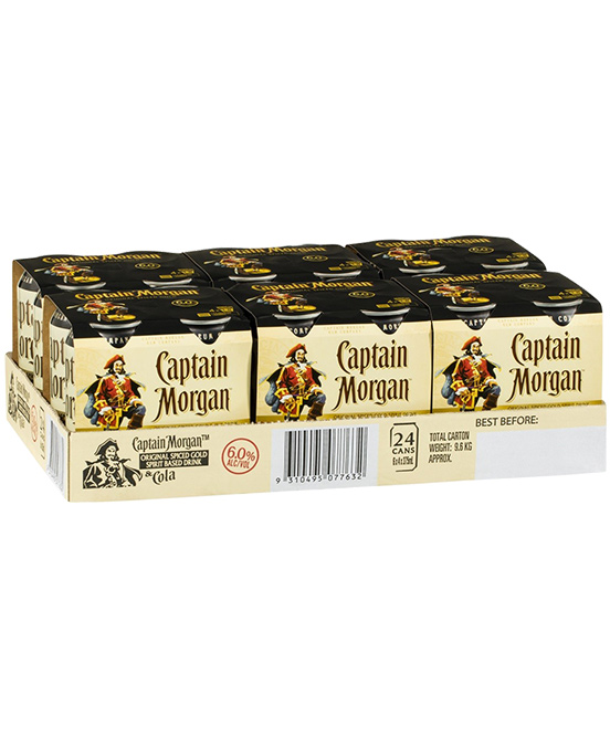 Captain Morgan 6% Spiced Cans 24 Pack