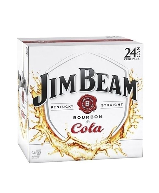 Jim Beam White & Cola Cube Cans 24 Pack