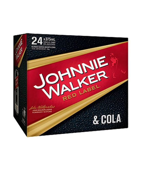 Johnnie Walker & Cola Cube Cans 24 Pack