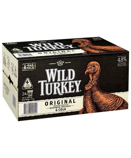 Wild Turkey & Cola 340ml 24 Pack