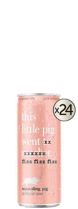 Squealing Pig Spritz Rose Cans 24x250ml
