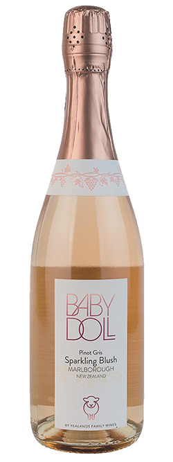Baby Doll Marlborough Pinot Gris Sparkling Blush Nv