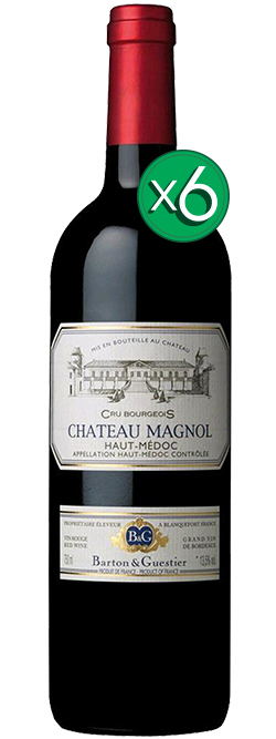 Barton & Guestier Chateau Magnol Haut Medoc Cru Bourgeois 2013 6pack