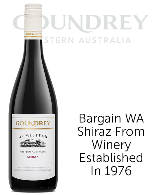 Goundrey Homestead Western Australia Shiraz 2019