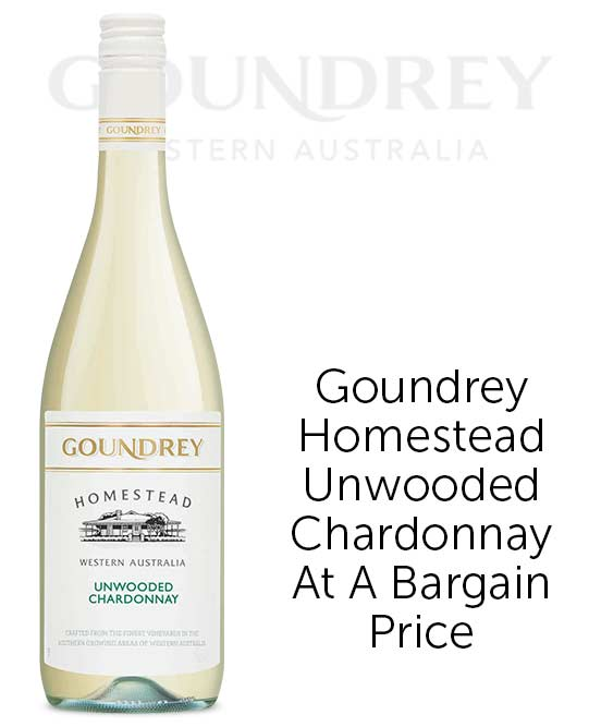 Goundrey Homestead Western Australia Unwooded Chardonnay 2020