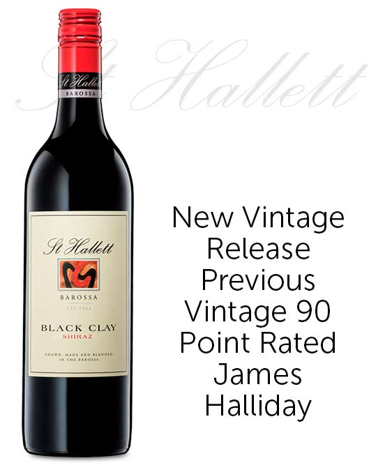 St Hallett Black Clay Barossa Valley Shiraz 2019