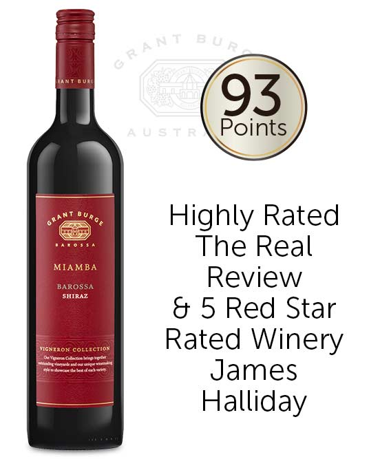 Grant Burge Miamba Barossa Valley Shiraz 2018