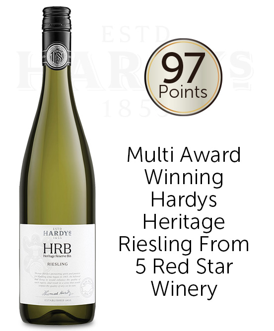 Hardys HRB Clare Valley Tasmania Riesling 2018