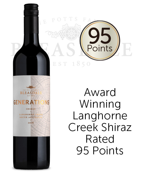 Bleasdale Generations Langhorne Creek Shiraz 2018