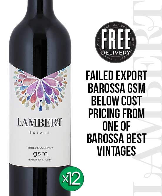 Lambert Estate Three's Company Barossa Valley GSM 2012 Dozen