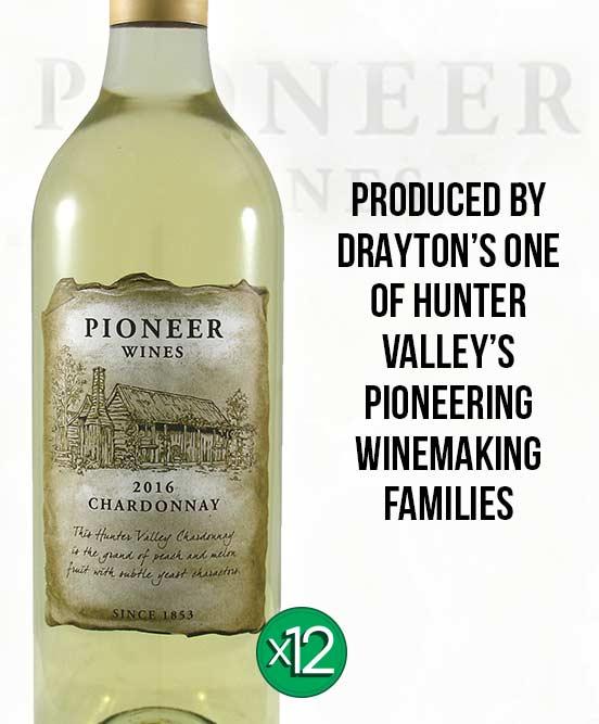 Drayton's Pioneer Wines Hunter Valley Chardonnay 2016 Dozen