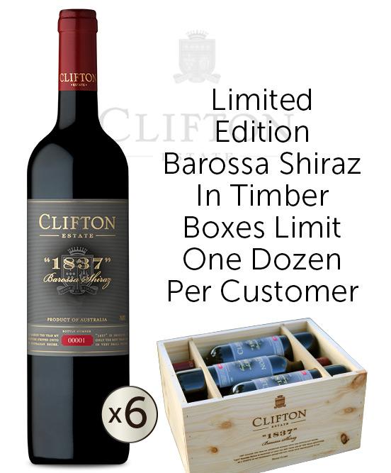 Clifton Estate 1837 Barossa Shiraz 2017 6pack