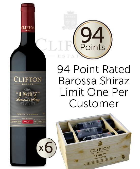 Clifton Estate 1837 Barossa Shiraz 2018 6pack