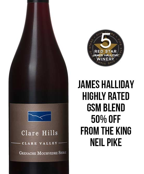 Clare Hills Clare Valley Grenache Mourvedre Shiraz 2017 By Neil Pike