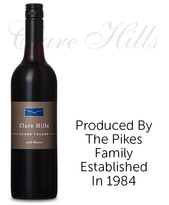 Clare Hills Clare Valley Merlot 2018 By Pikes