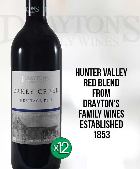 Draytons Family Oakey Creek Hunter Valley Heritage Red 2015 Dozen