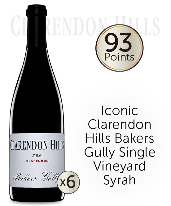 Clarendon Hills Bakers Gully Syrah 2012 6pack