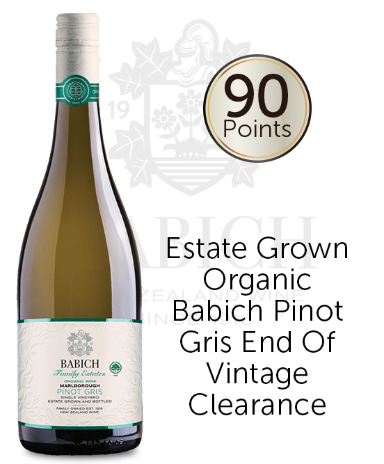 Babich Headwater Estate Organic Marlborough Pinot Gris 2017