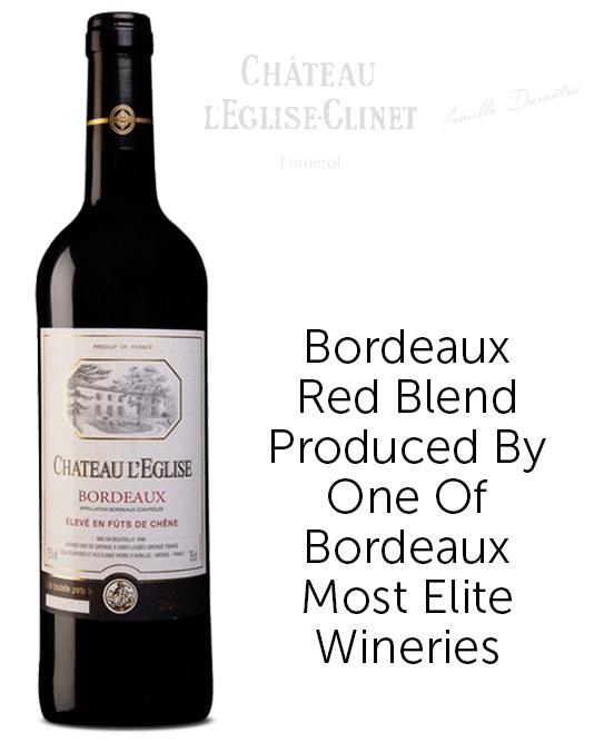 Chateau LEglise Bordeaux Cabernet Merlot 2019