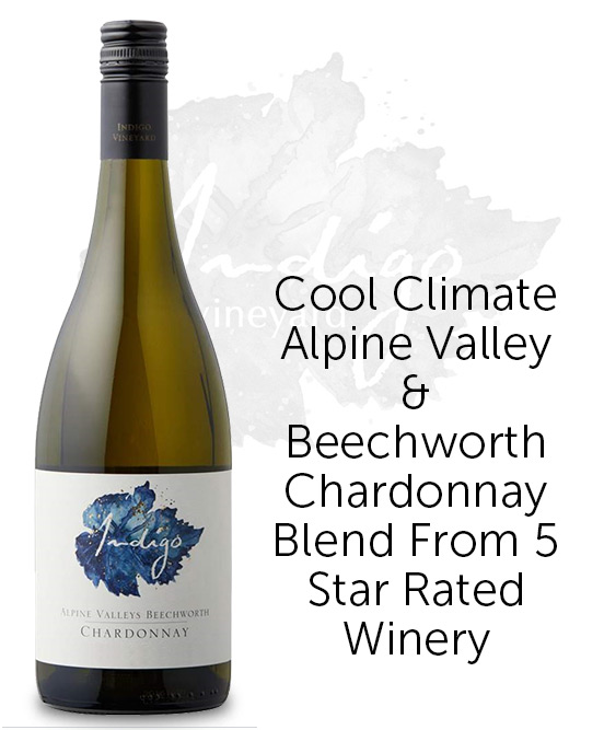 Indigo Vineyard Blue Label Alpine Valleys Beechworth Chardonnay 2018