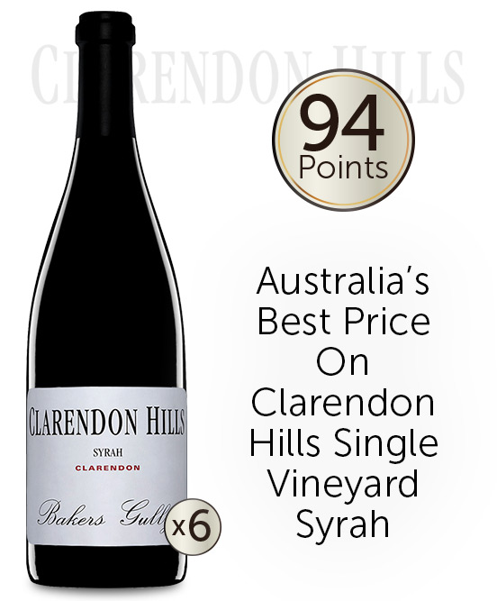 Clarendon Hills Bakers Gully Syrah 2010 6pack