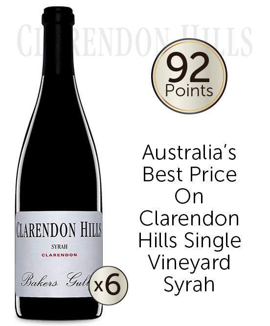 Clarendon Hills Bakers Gully Syrah 2008 6pack