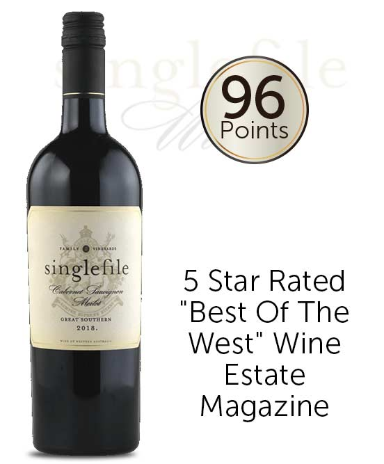 Singlefile Wines Great Southern Cabernet Sauvignon Merlot 2018
