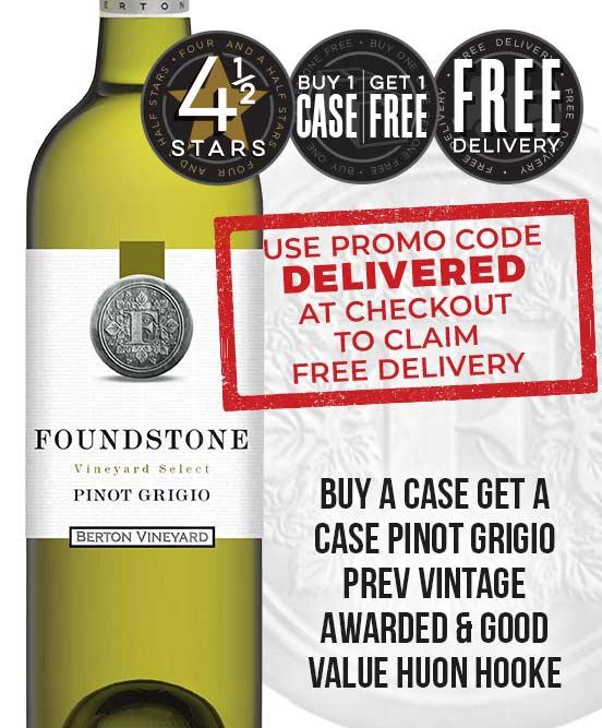Berton Vineyards Foundstone Pinot Grigio 2018
