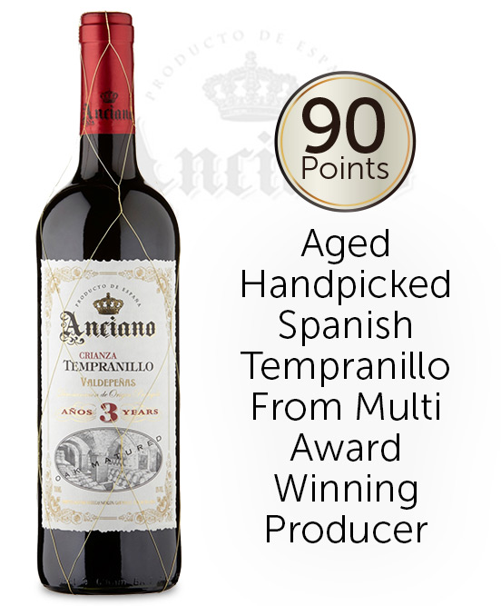 Anciano Crianza Tempranillo Aged 3 Years 2015