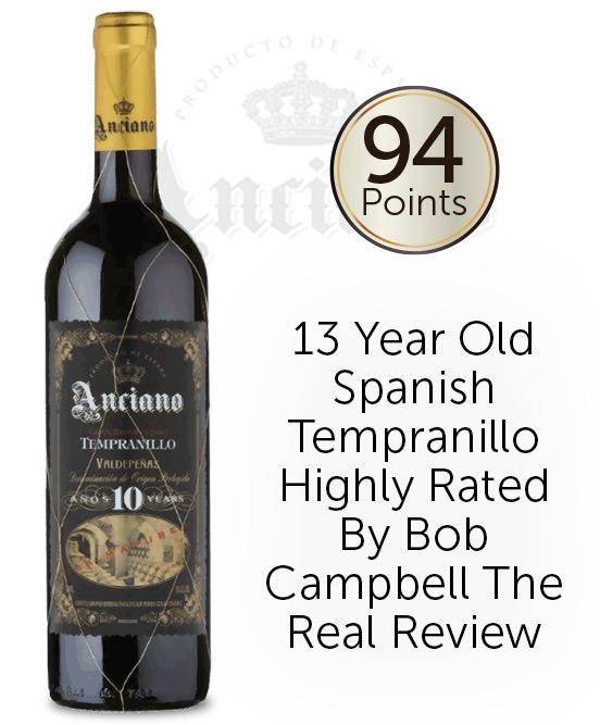 Anciano Gran Reserva Tempranillo Aged 10 Years 2008