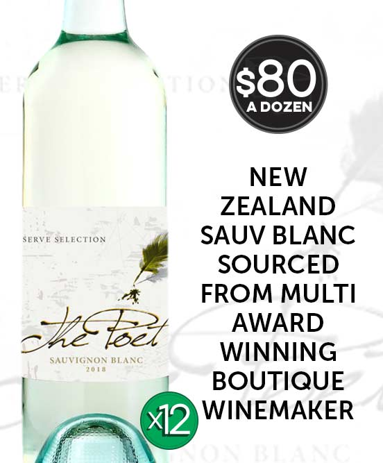 The Poet New Zealand Sauvignon Blanc 2018 Dozen