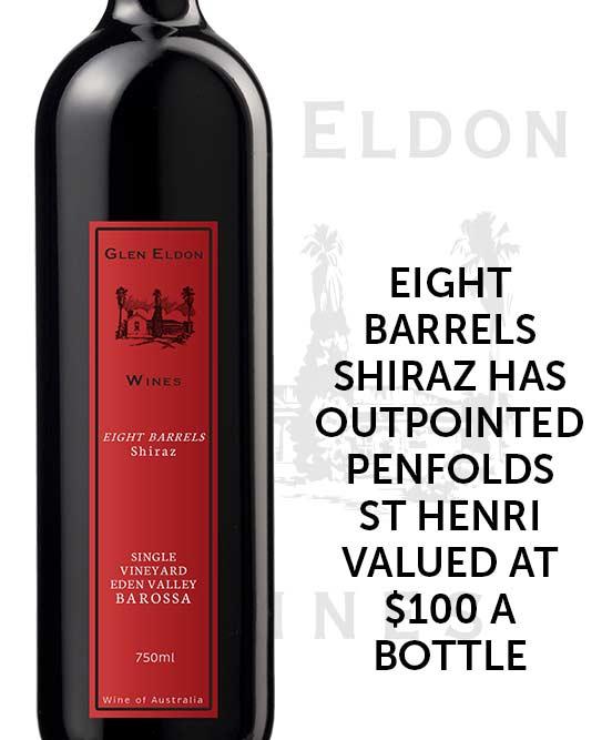 Glen Eldon Eight Barrels Single Vineyard Eden Valley Shiraz 2017