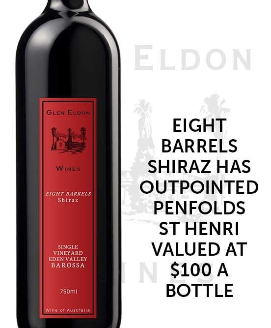 Glen Eldon Eight Barrels Single Vineyard Eden Valley Shiraz 2017