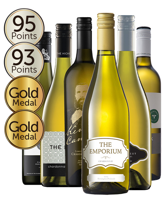 $120 Gold Medal Winning 94 Point Rated Chardonnay Mixed Dozen