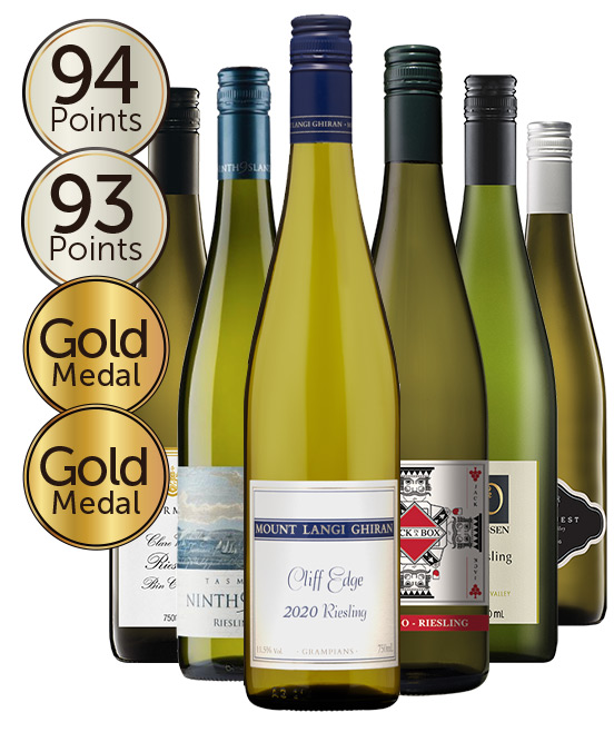 $120 Multi Gold Medal Winning 94 Point Rated Riesling Mixed Dozen