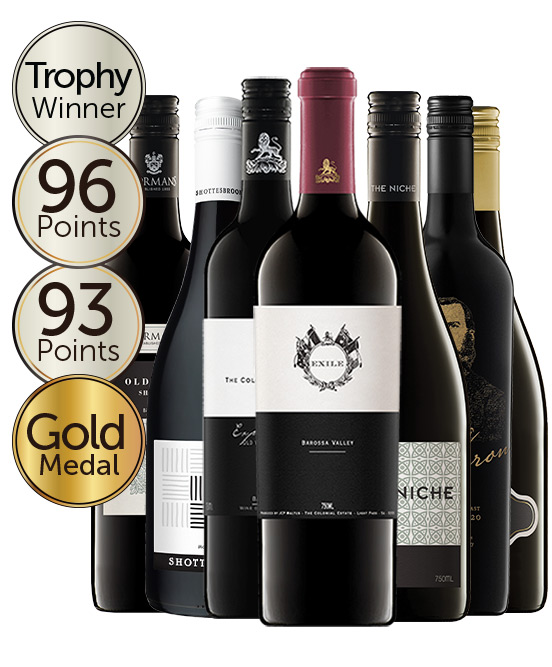 $120 Multi Gold Medal Winning 95 Point Rated Shiraz Mixed Dozen