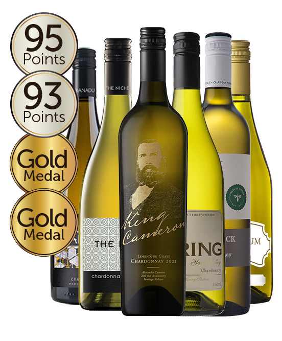 $150 Multi Gold Medal Winning 93 Point Rated Chardonnay Mixed Dozen