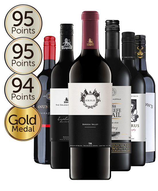 $150 Multi Gold Medal Winning 96 Point Rated Shiraz Mixed Dozen