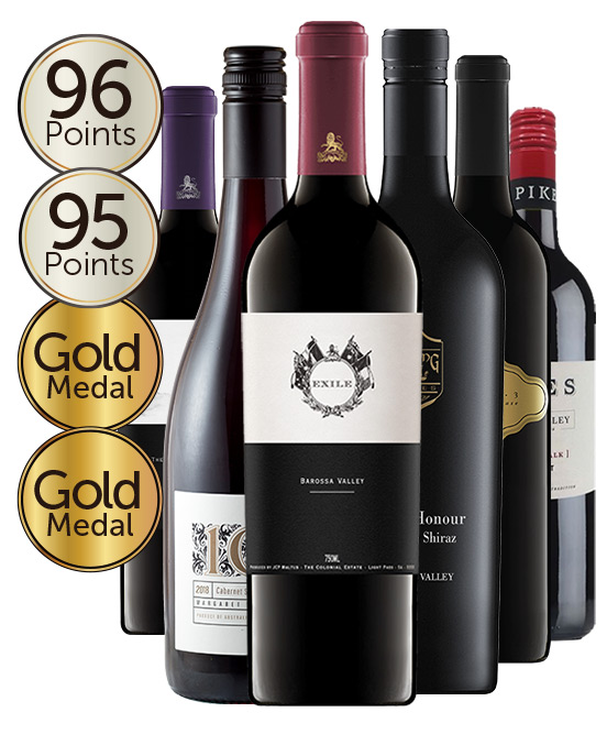 $199 Gold Medal Winning 96 Point Rated Red Mixed Dozen