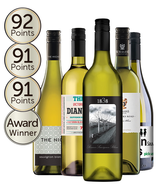$80 Gold Medal Winning 93 Point Rated Sauvignon Blanc Mixed Dozen
