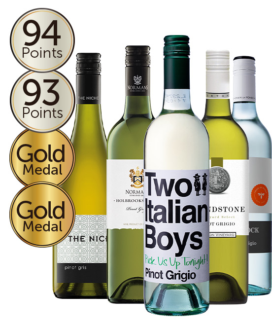 $80 Gold Medal Winning 95 Point Rated Pinot Gris Mixed Dozen