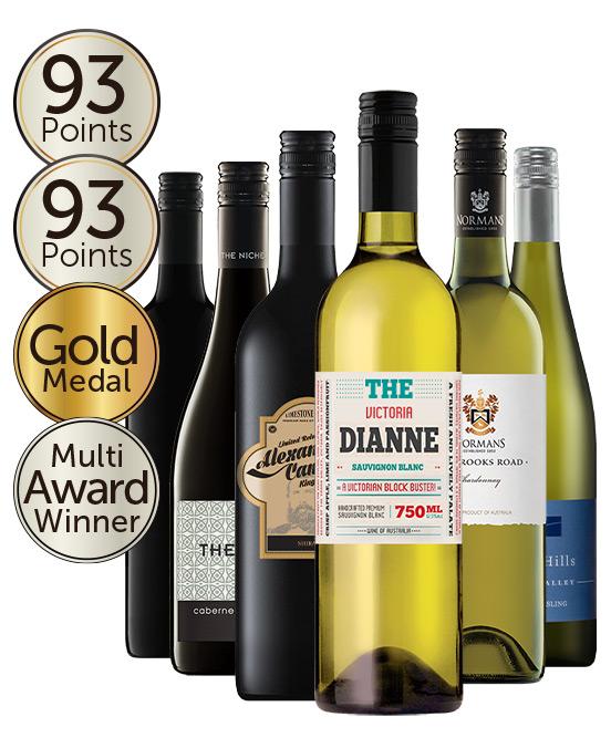 $80 Multi Award Winning 93 Point Rated Red & White Mixed Dozen