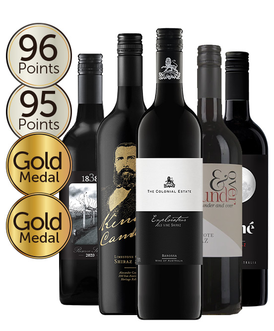 $99 Multi Gold Medal Winning 95 Point Shiraz Mixed Dozen