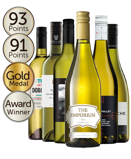 $99 Gold Medal Winning 91 Point Rated White Wine Mixed Dozen