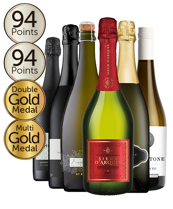 $99 Multi Gold Medal Winning 94 Point Sparkling Red & White Mixed Dozen